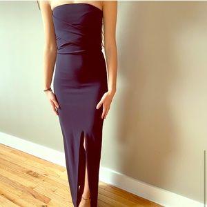 Lulu's Navy Strapless Dress